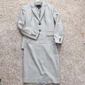 J. Crew Suit Set, Blazer & Skirt, Gray 0P
